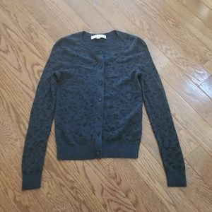 Ann Taylor Loft Animal Print Sweater Cardigan